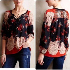 Anthropologie Meadow Rue silk blouse